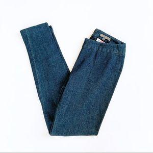 Vince Scrunched Denim Legging Stretch Ponte small